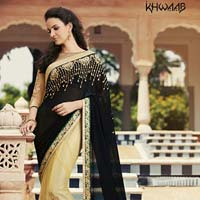 Ethnic Indian Designer Embroidered Party Wear Saree