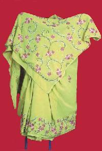 Thread Work Chiffon Saree