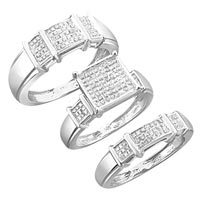 Diamond Trio Ring Set