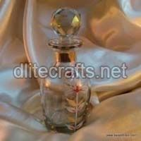 Clear Glass Gold Paint Perfume Bottle And Decanter