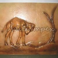 Handicraft Leather Camel Sculpture