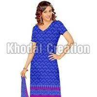 Blue and pink colored Straight Suit ladies