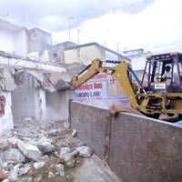 Old Building Demolition Contractor Work