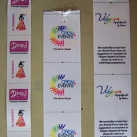 Multicolor Satin Label Printing