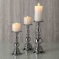 Aluminum Pillar Candle Holders