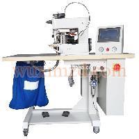 Adhesive double folding hemming machine