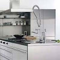 Stainless steel kitchen cabinet manufacturers suppliers for Aluminium kitchen cabinets hyderabad