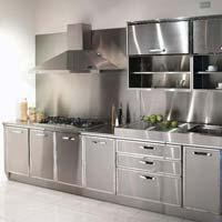 Stainless steel kitchen cabinet in delhi manufacturers for Stainless steel kitchen cabinets manufacturers
