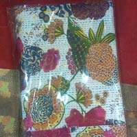 Kantha Fruit Printed Bed Sheet