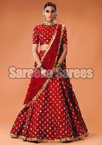Embroidery work lehenga sarees