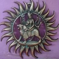 Gunmetal Durga Mata Wall Hangings