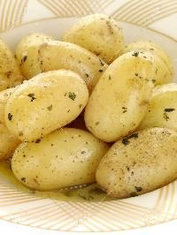 Crop Fresh Potatoes