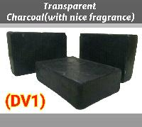 Charcoal (with Nice Fragrance) (dv1) Transperant Soap