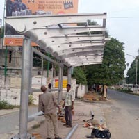 Stainless Steel Bus Stand Fabrication Services