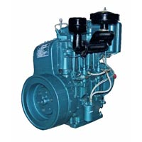 Manually Start Air Cooled Twin Cylinder Diesel Engine