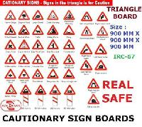 Cationary Sign Boards