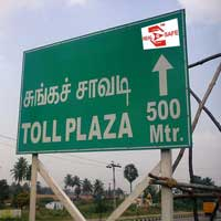 Toll Gate Information Sign Board