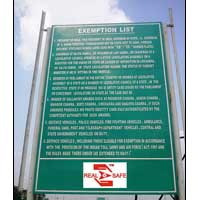 Toll Gate Rules Sign Board