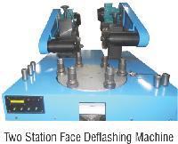 Two Station Face Deflashing Machine