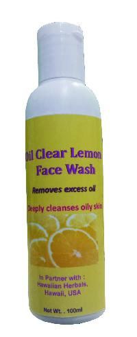 Hawaiian Oil Clear Lemon Face Wash