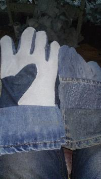 Leather Jeans Gloves