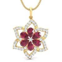 Star Jasmine Ruby Pendant