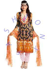 Fashionx Blue Woolen dress material