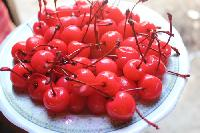 Red Cherry With Stem