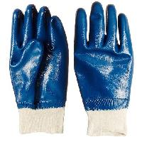 Full Nitrile Knitted Wrist Hand Gloves