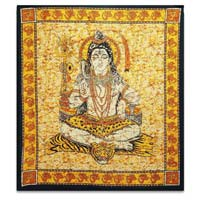 Lord Shiva Printed Tapestry