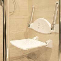 Shower Seat With Armrest & Back Rest - Folding Type
