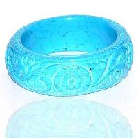 Elegant Carved Stone Bangle