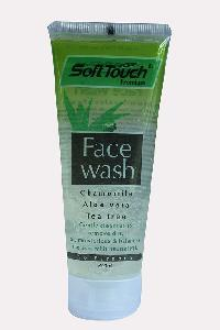 Soft Touch Face Wash (chamomile, Aloevera, Tea Tree)(transparent)