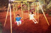 Two Seated Swing Park Play Equipment