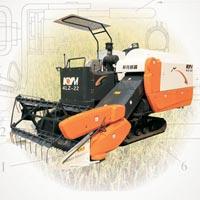 Full-feeding Grain Combined Harvester