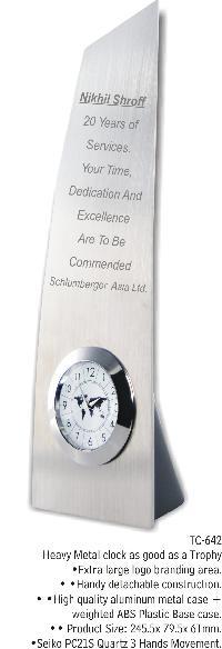 Metal Clock Trophy