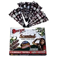 Dezee Scented Arabic Henna Paste Cone (Maroon Color)