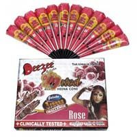 Dezee Scented Arabic Henna Paste Cone (pink Color)