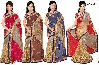 Elegant, Beautiful And Classy Embroidery Works Saree