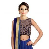 New Latest Nevy Blue Semi Stitched Lahenga Choli