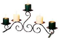 Wrought Iron Candle Holders
