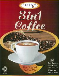 EASTPAC  3-IN-1 COFFEE MIX