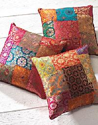 Colored Patchwork Cushion Covers