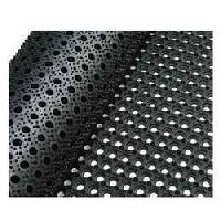 hole rubber door mat