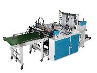 Side Sealing And Cutting Machine With On Line Punching