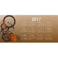 Printed New Year Calendar