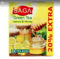 SAGA Green Tea Lemon & Honey