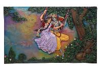 Radha Krishna Wall Paintings