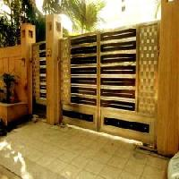 Villa Wooden Sliding Gate