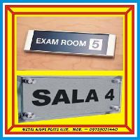 Aluminium Room Name Plates